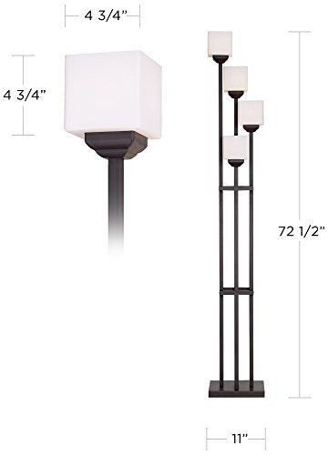 universal lighting and decor torchiere floor lamp with 4 lights bronze - Universal Lighting And Decor
