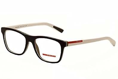 Amazon.com: Prada Sport PS01FV Eyeglasses-TIN/1O1 Top ...