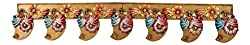 999Store handmade multicolour wooden bandanwar toran door hangings