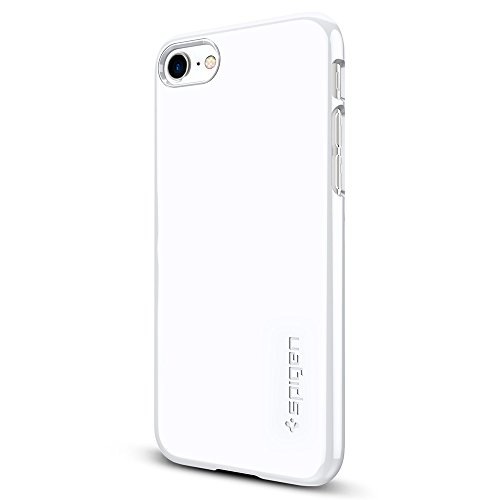 Spigen-Thin-Fit-iPhone-7-Case-with-Premium-Glossy-Finish-Coating-for-iPhone-7-Jet-White