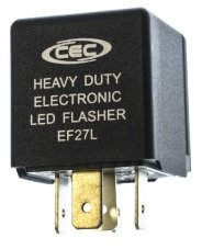 Cec Industries Ef27L Electronic Turn Signal Flasher Relay, Led Compatible, 5 Prongs, 12 Volts