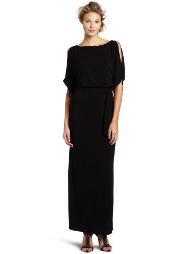 Trina Turk Women's Long Bernice Matte Jersey Dress, Black, 6