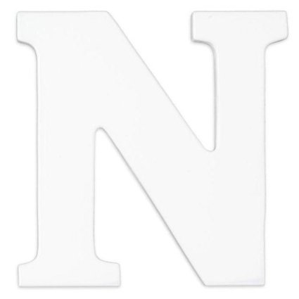 """KidKraft - Wood Letter """"N"""", White"""