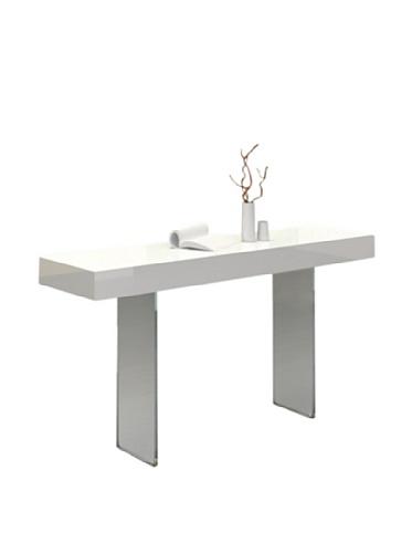 Casabianca Furniture Il Vetro Console Table, White