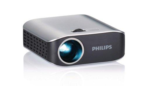 Philips PicoPix PPX 2055 Proiettore Tascabile, Argento/Nero