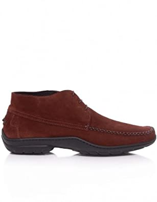 Joss Men's Crosta Suede Chukka Boots 10UK/44EU Dark Brown