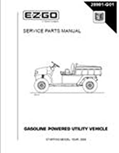 EZGO 28981G01 2004-2005 Service Parts Manual for Gas ST 4x4 Utility Vehicle