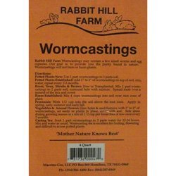 Rabbit Hill Worm Castings 4 qt. bag