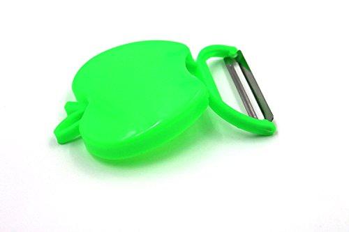 Stainless Steel Paring Knife Peelers, iZEEKER Apple Fruit Knife/ Fruits Peeler / Folding Type Apple Peeler / Planer, 1pcs (green)