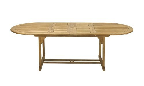 FSC Teak Hampton Oval Garden Furniture Extension Table - FREE UK Mainland Delivery