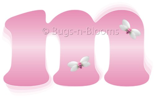 """M"" Pink Bumble Bee Alphabet Letter Name Wall Sticker. Decal Letters For Children'S, Nursery & Baby'S Room Decor, Baby Name Wall Letters, Girls Bedroom Wall Letter Decorations, Child'S Names. Bumble Bees Honey Bumblebee Mural Walls Decals front-964127"