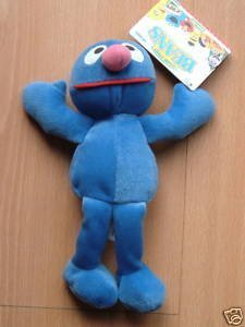 "Sesame Street Grover 8"" Plush Beans by Tyco - 1"