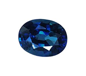 Blue Oval Sapphire Unset Loose Gemstone Over 6 Carats Lab