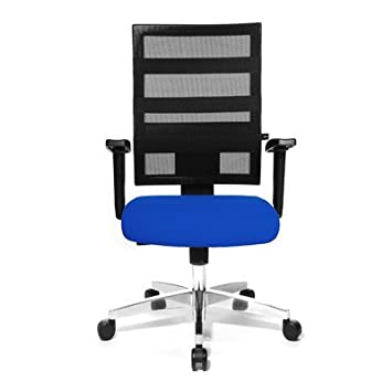 High-Back Mesh Executive Chair Colour: Blue/Black