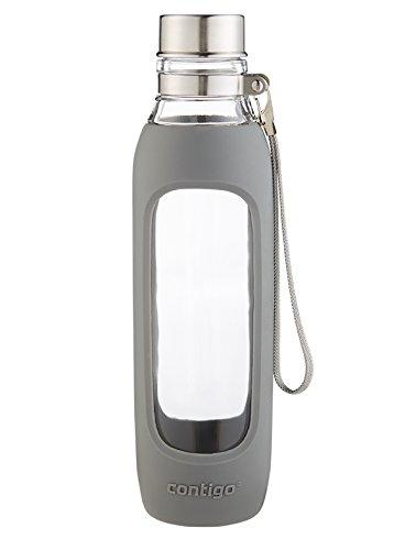 Contigo Purity Glass Water Bottle, 20-Ounce, Smoke (Takeya Glass Water Bottle compare prices)