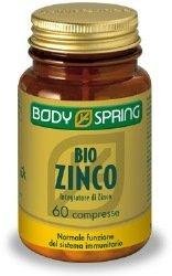 Body Spring Integratore Alimentare di Vitamine Zinco - 60 Compresse