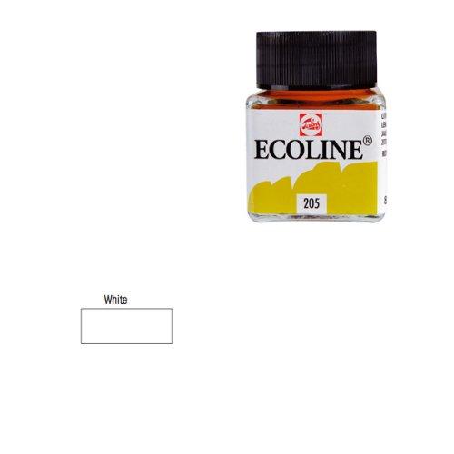 Ecoline-fluessige wasserfarbe-blanc - 30 ml
