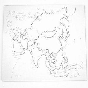 Seguiprezziit Montessori Carta Geografica Per Conoscere Asia Muta
