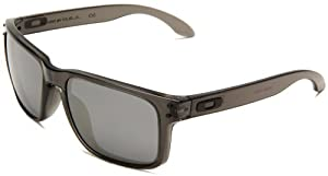 Oakley Mens Holbrook OO9102-24 Iridium Sunglasses,Grey Smoke Frame/Black Lens,One Size