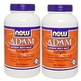 [海外直送品][2本セット] NOW Foods   お得サイズ   アダム メンズマルチビタミン 180粒