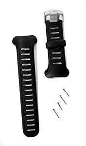 Suunto Wrist-Top Computer Watch Replacement Strap Kit (X3HR; Black Elastomer)