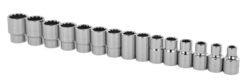 Stanley 89-339 1/2-Inch Drive 12-Point Professional Grade Metric Socket Set, 15-Piece