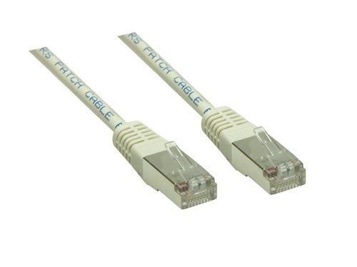Internet Kabel 50cm grau, doppelt geschirmt, Cat.6