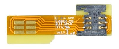 Bplus B1605B : Standard Sim To Standard Sim Fpc Adapter , Sim Inside Notch , Total Length 5.5Cm