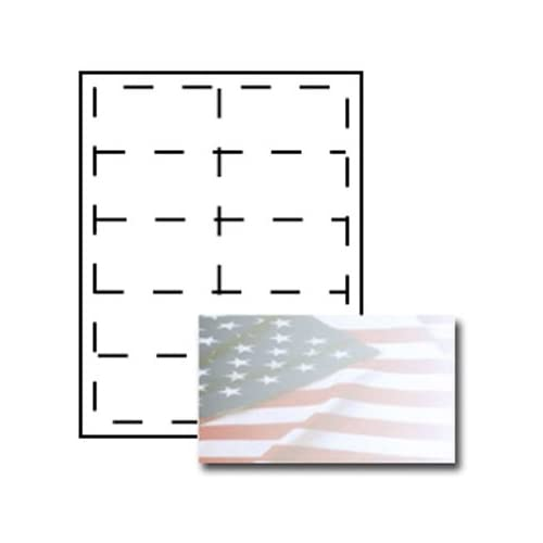 American Flag Business Card Paper Stock Office Products