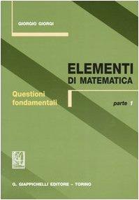 Cover Elementi di matematica: 1