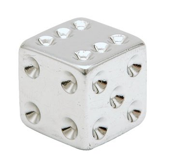 Trik Topz Dice Valve Caps pr. Chrome 122406