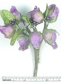 Lavender Mini Silk Craft Wedding Flowers 12 Bunches