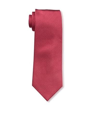 J. McLaughlin Men's Plainweave Tie, Skull Crossbone Red