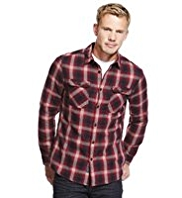 North Coast Pure Cotton Ombre Checked Shirt