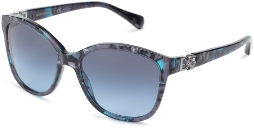 D&G Dolce & Gabbana DG4162P 25518F Cat Eye Sunglasses,Blue Marble,56 mm