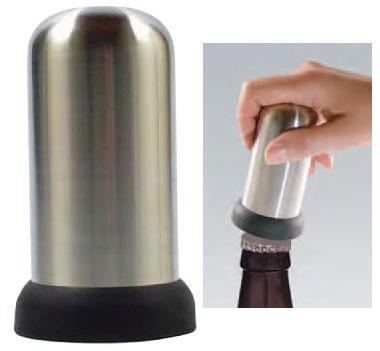 Cap-Popper Bottle Opener- Stainless Steel