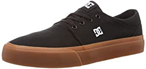 DC Men's Trase TX Skate Shoe, Black/Gum, 14 M US