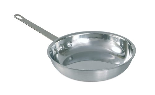 Crestware 14-1/2 625-Inch Heavy Weight Polished Aluminum Natural Fry Pan