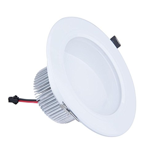 Lemonbest 7 Watts Round Led Ceiling Light Downlight Floodlighting Lamp Recessed Light Fixture , Halogen Bulb Replacement, Warm White