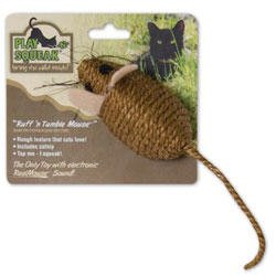 Play-n-Squeak Ruff-n-Tumble Catnip Mouse Cat Toy