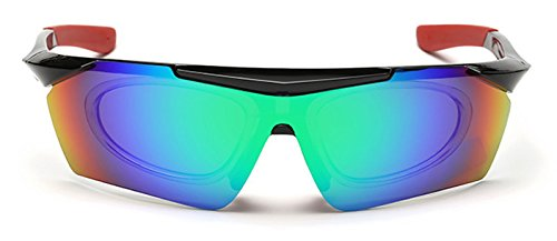 Coolzdt Polarized Colorful Batman Explosion-Proof Windproof Sports Sunglasses Mens Womens Glasses for Outdoor Running Cycling Fishing (Blue-Green)