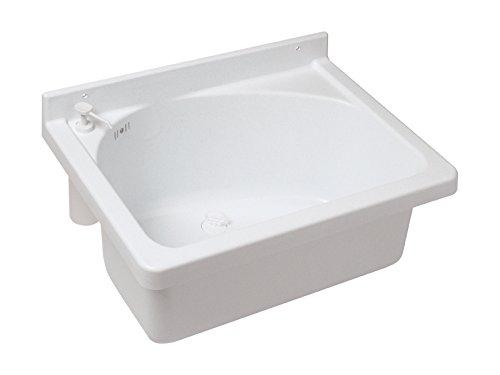 Ausgussbecken Onda | Mit Seifenspender | 62 cm | Kunststoff | Waschbecken | Keller | Waschküche | Garage Garten