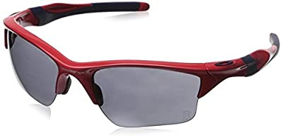 Oakley Men's MLB Red Sox Half Jacket 2.0 XL OO9154-38 Rectangular Sunglasses