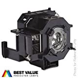 Alda PQ Replacement Projector Lamp EPSON V13H010L41, ELPLP41 suitable for EPSON PowerLite 77c, PowerLite 78, PowerLite S5, PowerLite S6, PowerLite W6, CINEMA 700, EX21, EX30, EX50, EX70, EB-S6, EB-S62, EB-S6LU, EB-W6, EB-X6, EB-X62, EB-X6LU, EMP-X5, EMP-