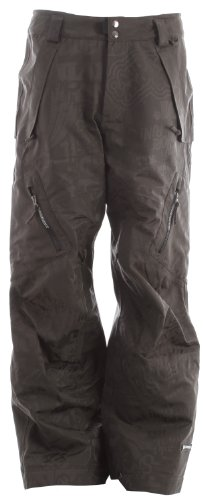 Ride Snowboards Men's Harbor 3-Layer Pant, Gunmetal Jacquard, Large