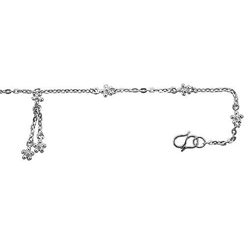 revoni bracelet cheville femme argent massif bracelet avec petites fleurs bijouterie. Black Bedroom Furniture Sets. Home Design Ideas