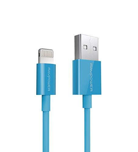 RAVPower ライトニングケーブル apple認証 (MFI)済 iphone ipad ipod対応 USB 充電 ケーブル 90cm ブルー