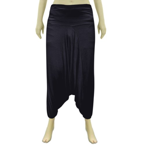 Black Hosiery Cotton Fabric Unisex Afghani Pant with elastic waist (Free Shipping) Afpt0018