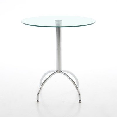 ABC Home Scandinavian Style Kitchen Table, Silver