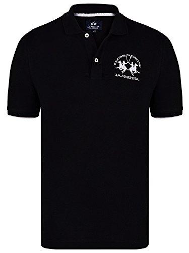 la-martina-mens-polo-basic-t-shirt-couleur-noir-taille-2xl